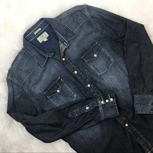 Lucky Brand Classic Fit Denim Button Down Shirt
